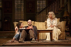 "Sarah Steele as Susie, Eric Lange as her uncle Elliott, and Blythe Danner as her grandmother Anna in a scene in Donald Marguiles' ""The Country House."" Photo © Joan Marcus"