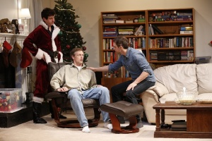 Photo: Gary Wilmes, James Stanley, and Pete Simpson in Straight White Men, a co-production with Young Jean Lee's Theater Company, written and directed by Young Jean Lee, running at The Public Theater. Photo credit: Carol Rosegg.