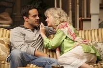 "Daniel Sunjata and Blythe Danner in a scene from ""The Country House."" Photo © Joan Marcus"