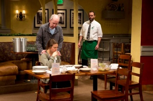 "Jonathan Hogan, Leah Karpel and Danny Wolohan in a scene from ""Pocatello."" Photo © Jeremy Daniel"