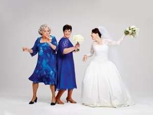 Tyne Daly, Lisa Howard, Sierra Boggess. Photo by Andrew Eccles