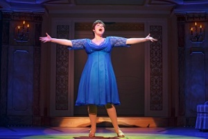 Lisa Howard in her eleven o'clock--well maybe 9:30 (the show is only 100 minutes)-- number. Photo by Joan Marcus