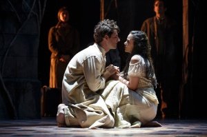 """John Riddle and Michelle Veintimillia in a scene from """"The Visit."""" Photo Credit: Joan Marcus"""