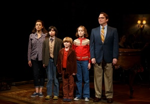 "The family in ""Fun Home."" Photo by Joan Marcus."