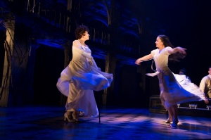 """Chita Rivera and Michelle Veintimillia in a scene from """"The Visit."""" Photo Credit: Thom Kaine"""