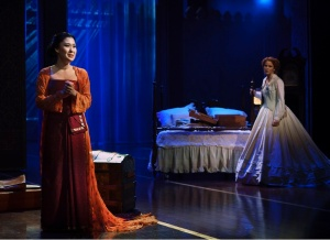 """Ruthie Annn Miles and Kelli O'Hara in Lincoln Center's production of Rodgers and Hammerstein's""""The King and I,"""" directed by Bartlett Sher. Photo by Paul Kolnik."""