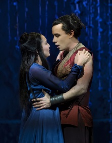 """Ashley Park and Conrad Ricamora in Lincoln Center's production of Rodgers and Hammerstein's""""The King and I,"""" directed by Bartlett Sher. Photo by Paul Kolnik."""