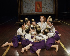 "Kelli O'Hara and company, ""Getting to Know You,"" in a scene from ""The King and I."" Photo by Paul Kolnik."