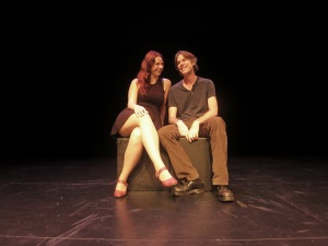 "Vanessa Quesnelle and Martin Dockery in ""Moonlight After Midnight"" at the Kraine Theater through April 30th"