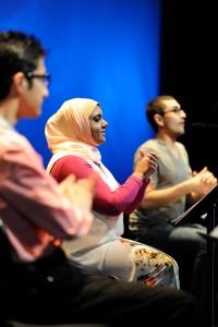Ferdous Dehqan, Tiffany Yasmin Abdelghani, Amir Khafagy. Photo by Adam Nagel.