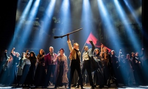 "Les Miz's anthem, ""One Day More"" in a photo by Matthew Murphy."