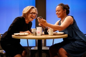 Meg Gibson and Michelle Beck in The Sentinels by Matthew Lopez, directed by Stephen Brackett, part of Summer Shorts 2015 at 59E59 Theaters. Photo by Carol Rosegg