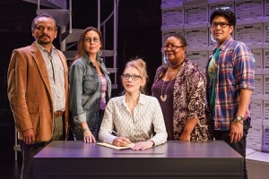 "The New York City premiere of ""Informed Consent"" at Primary Stages by Deborah Zoe Laufer and directed by Liesl Tommy. The play features Pun Bandhu, Tina Benko, Jesse J. Perez, DeLanna Studi, and Myra Lucretia Taylor."