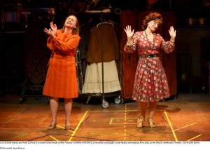 Shows For Days at the  Mitzi E. Newhouse Theater. Dale Soules and Patti LuPone. Costumes by William Ivey Long.