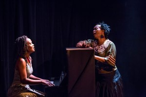 Tanya Tawengwa & Thuli Dumakude in a scene from Afrca My Beautiful. Photo by Donnell Culver