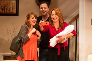 Kate Wetherhead, George Merrick and Marlo Thomas in a scene from Joe DiPietro's Clever Little Lies directed by David Saint at the Westside Theatre. (Photo by Matthew Murphy)