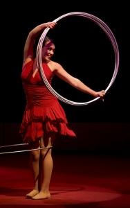 Chiara Anastisini works the hula hoop like no one else