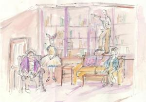 Production Art, Robin Phillips, artist, The Hummingbird's Tour