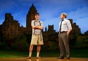 Sylvia with Robert Sella as Tom and Matthew Broderick as Greg. Photo by Joan Marcus.