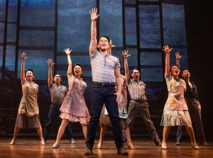 Telly Leung and the cast in a scene from Allegiance (c) Matthew Murphy