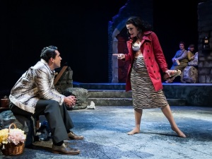 Photo by John B. Barrois: Todd d'Amour (Valentine Xavier) and Beth Bartley (Carol Cutrere)