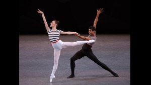 Tiler Peck and Amar Ramasar in Justin Peck's Everywhere We Go from http://www.nycballet.com/Ballets/E/Everywhere-We-Go-New-Stevens-Peck.aspx