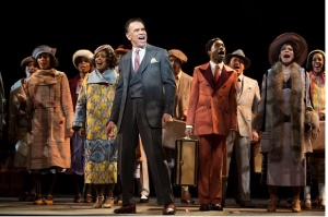 Brian Stokes Mitchell, with Adrienne Warren (fourth from left), Billy Porter, Audra McDonald and ensemble © Julieta Cervantes
