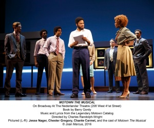 Motown The Musical with Chester Gregory as Berry Gordy. Photo © Joan Marcus