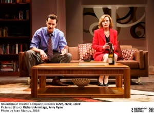 Love Love Love OFF BROADWAYDRAMA LAURA PELS THEATRE 111 W. 46TH S., NEW YORK, NY 10036 Sparked in the haze of the 60s, Love Love Love explores a relationship charred by today's brutal reality, paranoia and passion. Starring: Richard Armitage, Alex Hurt, Zoe Kazan, Ben Rosenfield, Amy Ryan Director: Michael Mayer PLAYWRIGHT: MIKE BARTLETT