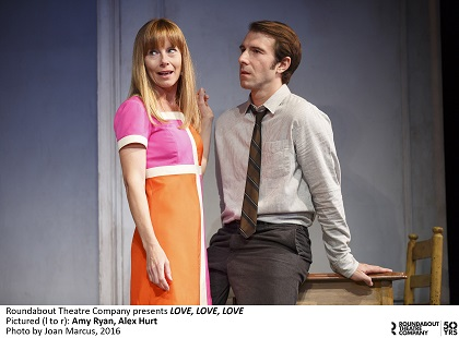 Love Love Love OFF BROADWAYDRAMA LAURA PELS THEATRE 111 W. 46TH S., NEW YORK, NY 10036 Sparked in the haze of the 60s, Love Love Love explores a relationship charred by today's brutal reality, paranoia and passion. Starring: Richard Armitage, Alex Hurt,