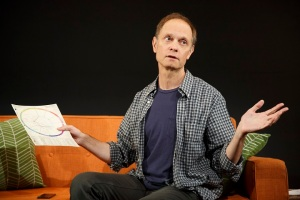 A Life by Adam Bock at Playwrights Horizons Directed by Anne Kaufman Starring David Hyde Pierce (pictured) and with Marinda Anderson, Brad Heberlee, Nedra McClyde, Lynne McCollough. Photo © Joan Marcus