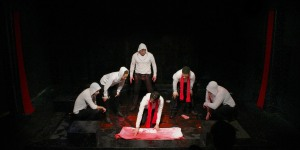 Matt Harrington, Shayna Small, David Kenner, Chris Myers, Brendan Titley, Ben Mehl - Julius Caesar (Photo- Brittany Vasta) (1)
